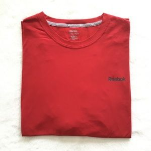 Men's bright red Reebok shirt sleeved t-shirt